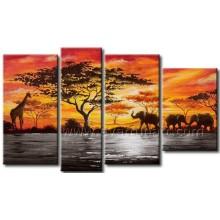 Home Dekoration Wand Kunst Afrikanische Malerei auf Leinwand (AR-156)