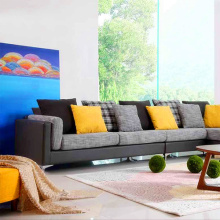 Corner Fabric Sectional L-Shaped Lounge Soffa Set