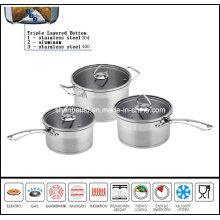 6PCS Cut Edge Cookware Set