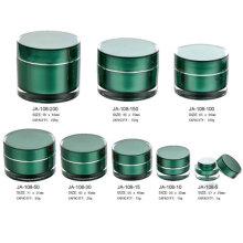 Tarros cosméticos acrílico plástico verdes