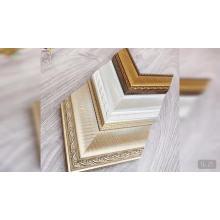 Широкий крупноразмерный серебристо-золотой декор интерьера ps молдинг