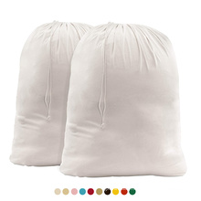 Wholesale Custom Extra Large Heavy Duty Print Drawstring Tote Wash Garment Storage Cotton Canvas Laundry Bag
