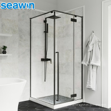 Seawin Modern Aluminium Prefab Black Enclosure Tempered Glass Shower Room Door