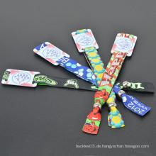 Einmal Gebrauch Wristbands Polyester Custom Tuch Gewebte RFID Wristband