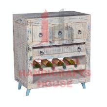 Gabinete de madera de la barra