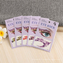 Non-Toxic Paper Promo Party Tattoo Sticker Personnalisé Floral Non-Toxic Temporaire Temporary Eye Tatouage Autocollant