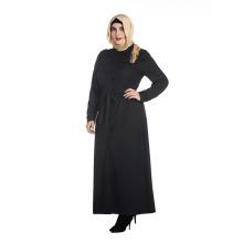 Autumn and winter plus size abaya islamic clothing black color long sleeve muslim abaya