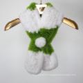 Nouvelle veste en tricot à main tricotée en fourrure en fourrure en écharpe à capuche femme