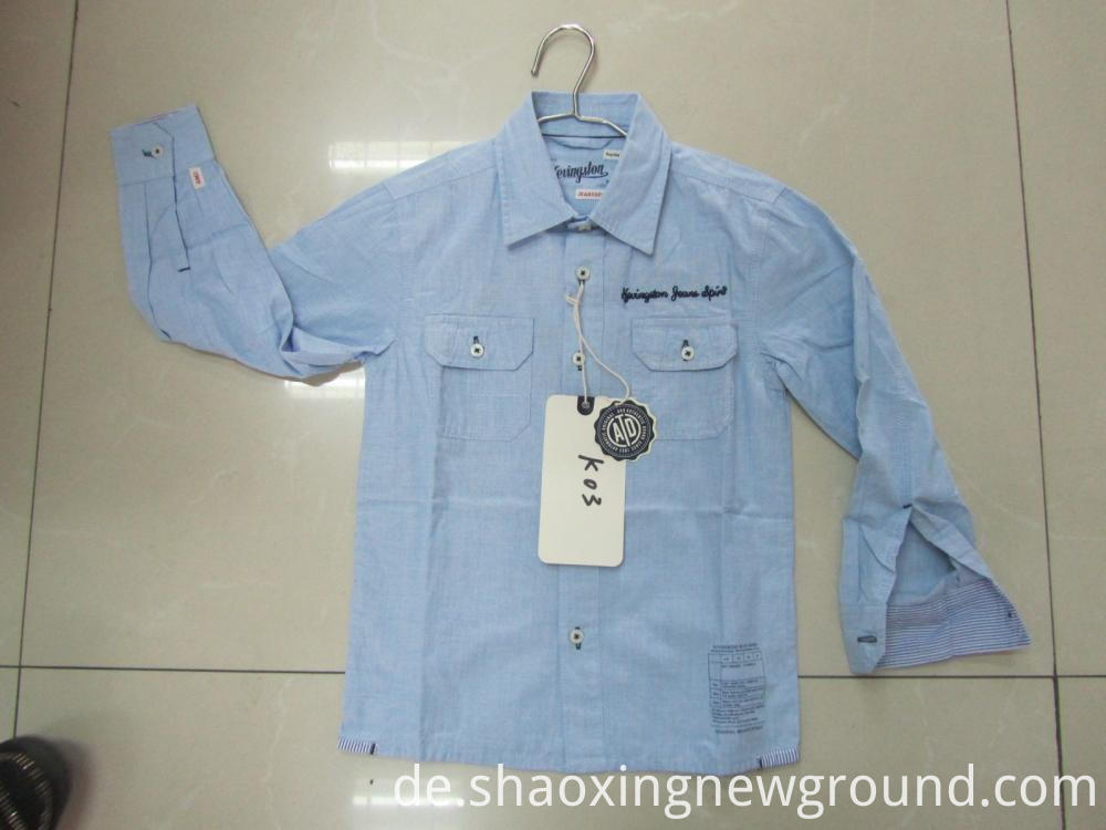 Blue cotton check shirt