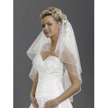 White Ivory 2T Rhinestones beads Elbow Corded Edge Bride Wedding Veil comb