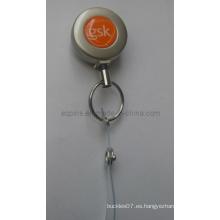 Metal Badge Reel en niquelado de perlas