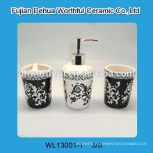 Античный стиль керамические аксессуары для ванной комнаты с деколью
