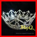Full Round Crystal Queen Festzug Krone, Großhandel Festzug Kronen und Tiaras, Runde Kronen zum Verkauf