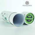 Custom white round tube gift box/round packaging