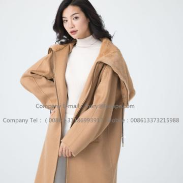 Lady Cashmere Coat Z Mink Fur