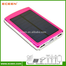 Capacité réelle 10000mah chargeur solaire portatif portable à énergie solaire pour appareils numériques