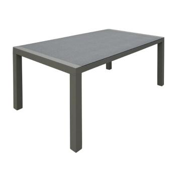 Conjunto aluminio mimbre jardín muebles mesa