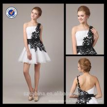 5354 Um ombro chiffon amostra real novo vestido de noite vestido ahort encapotado crianças meninas vestidos de noite