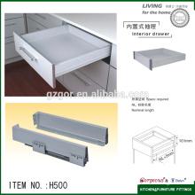 soft closing tandem box hidden drawer slide rail