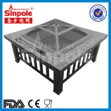 Multifunctional 2 in 1 Outdoor Grilling Table Fire Pit BBQ with Cover Black (SP-FT039)