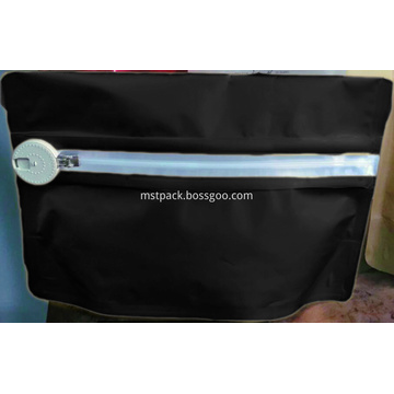 Matte Black Child Resistant Pouch Bags