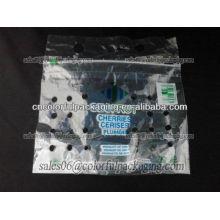 Saco de embalagens plásticas recicláveis para vegetais e frutas com orifício de ventilação