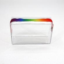 Custom Transparent PVC Bag Rainbow EVA Bra Bag Clear PVC Zip Bag