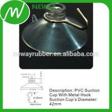 Custom Clear PVC 42mm Saugnapf mit Haken