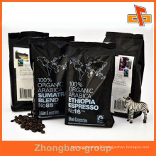 Plastic packaging material guangzhou manufacturer accept custom order heat seal moisture proof coffee bags gusset with printing