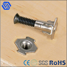 Stainless Steel 4 Prong Furniture Fasterner Polished Tee Nut