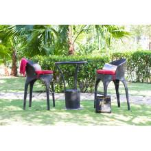 Best selling All weather Wicker PE Rattan Bar Sets Outdoor Garden Furniture