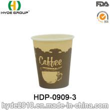 Único copo de café descartável do papel de parede 7.5oz (HDP-0909-4)