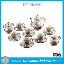 Art und Weise Elegante Rosen-Muster-keramischer Teecup-Satz