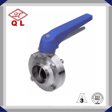 Ss316L Hygienic Stainless Welded and Thread Multi-Position Sanitary Butterfly Valve