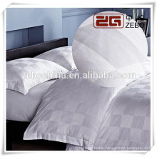 100% Cotton High Quality Grid Jacquard Hotel Bed Linen