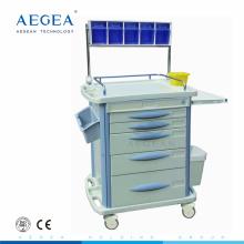 AG-AT007B3 ABS material anestesia médica carretilla en venta