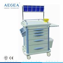 Hospital cart for patient therapy used medical anesthesia trolley