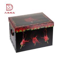 Profissional popular personalizado impresso pequena caixa de embalagem preta do produto