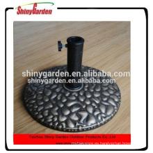 base de paraguas de resina de plástico al aire libre