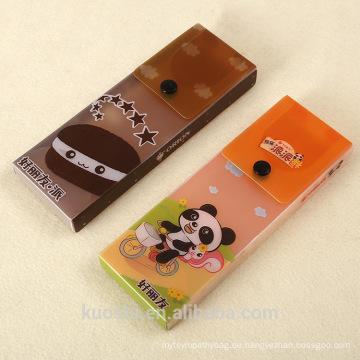 Heißes Produkt Transparenter Pvc-Verpackenkasten für Lebensmittel mit Knopf