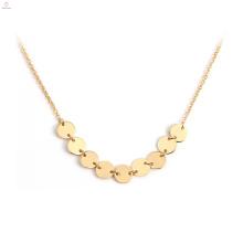 Chaîne de pendentif en or 18K de bijoux de mode en acier inoxydable Collier pendentif en or