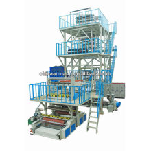 ABCThree Layer Co-extrusion full automatic con IBC y TAKE UP PE Film Blown Machinery EXTRUDER