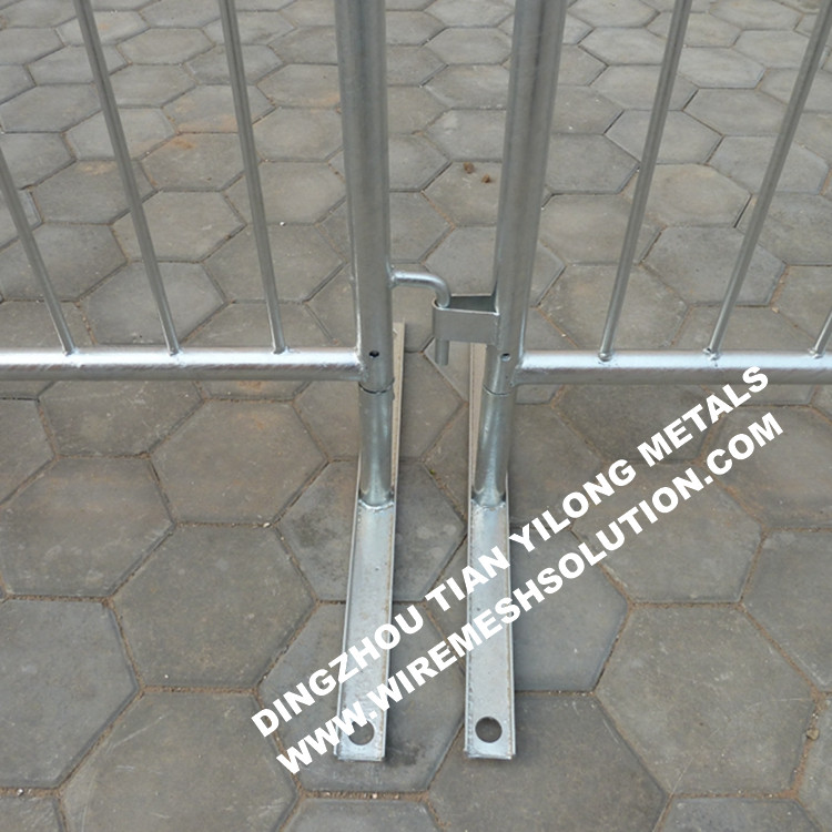 Crowd Control Barrier Flat Feet