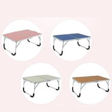 Mesa de campismo de dobramento portátil pequeno para piquenique e mesa dobrável de alumínio interior portátil