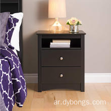 2-Drawer Wooden Bedside Table Cabinet Nightstand Furniture