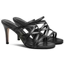 Women's Sandals Slipper Open Toe High Heel Ladies Slippers and Sandals Black or White Beach Shoe for Women and Ladies