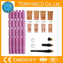 58 pieces wp18 /wp17/wp26 tig welding torches parts kits