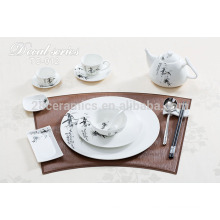 Eco-friendly new style dining table set , royal china dinnerware