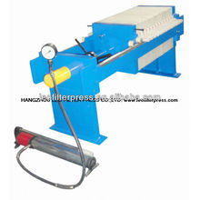 Kleine manuelle hydraulische manuelle Betriebskammer Filterpresse, kleine Kammerfilterpresse