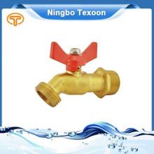 brass ball valve with hose end T handle garden faucet